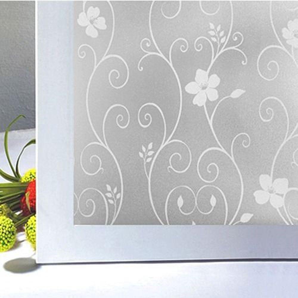 PVCつや消しステッカーガラスプライバシーシャワー画面Windowsカバー自己粘着フィルム 45x100cm(17.7x39.4inch) D4102-CN-FE2 B07567ZLDG  Style-b 45x100cm(17.7x39.4inch)