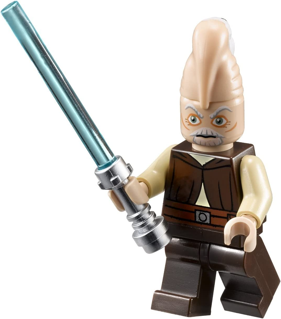 Ki-Adi Mundi ~ Lego Star Wars Minifigure with Lt. Blue Lightsaber