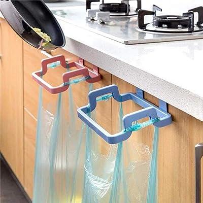 m·kvfa 2PC Multi-Function Kitchen Holder Trash Bag Holder Cabinets Cloth Rack Towel Rack Trash Rack Door Back Garbage Bag Holder for Toilet Bathroom Living Room (Pink): Kitchen & Dining