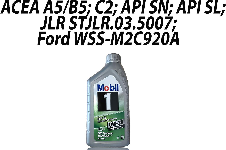Mobil 154317 Öl Esp Lv 0w 30 1l Auto