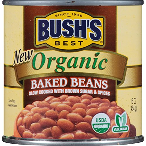 BUSH'S BEST Organic Baked Beans, 16 Ounce Can (Pack of 12)