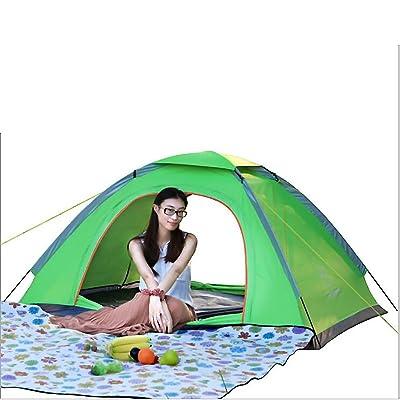 2 Personnes Tente, Tente Camping 3-4 Saisons Dometent Portable Avec Sac Portes Des Deux Côtés Fibre De Verre-léger Tente De Camping