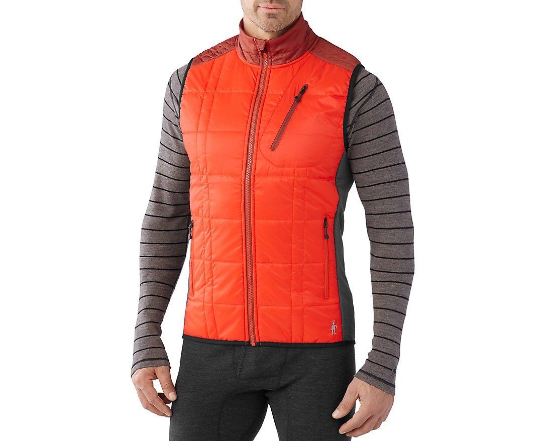 Smartwool Men's Corbet 120 Vest Bright Orange Outerwear LG