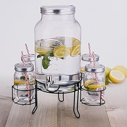 INtrenDU® Dispensador de Agua, dispensador de Bebidas, dispensador con Grifo, 4.5L