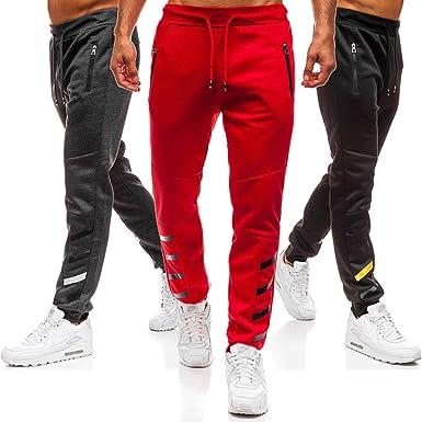 2fc56a26f73e7 West Sweety Man Sport Running Pants Zipper Pockets Tapered Leg Pants ...