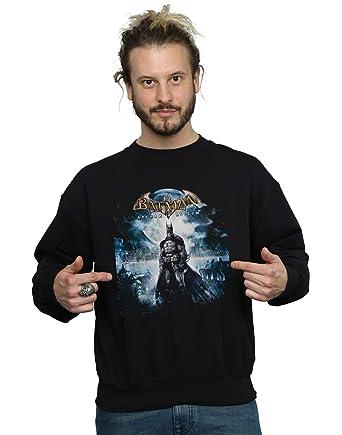 Dc Comics Mens Batman Arkham Asylum Pale Moonlight Sweatshirt At