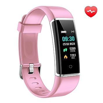 AUSUN Pulsera de Actividad Inteligente, FT901 Pulsera Actividad Reloj Inteligente Mujer Hombre con Monitor de Sueño, Podómetros, Notificación de ...