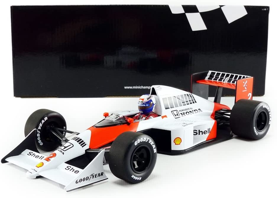 /Miniatura de Coche McLaren MP4//5/World Champion 1989/ Minichamps/ Escala 1//18, 530891802, Rojo//Blanco
