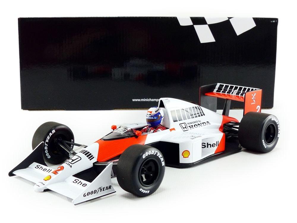 Minichamps/ Escala 1//18, 530891802, Rojo//Blanco /Miniatura de Coche McLaren MP4//5/World Champion 1989/