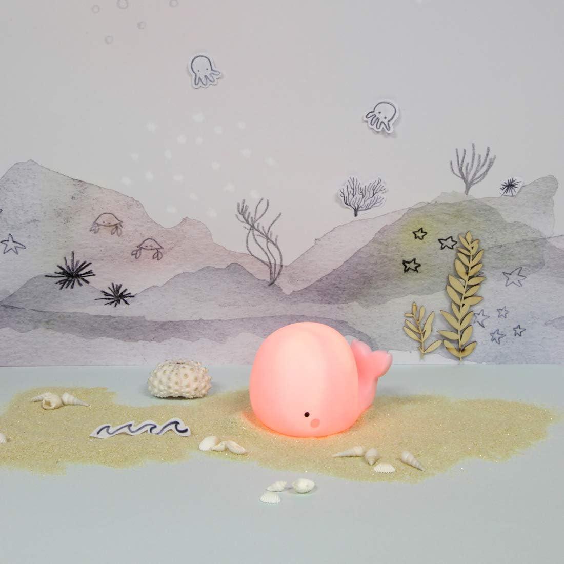 /à LED Teeny /& Tiny Veilleuse en silicone souple 200 g avec batterie pour chambre de b/éb/é et enfant