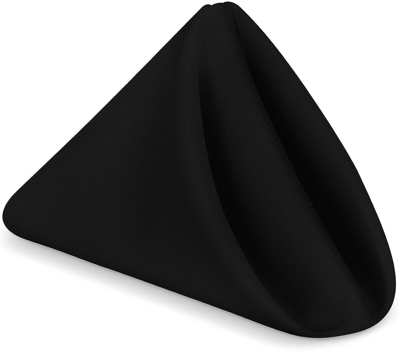 Utopia Home Restaurant Cloth Napkins 17 x 17 Inches - Black - (Pack of 24)