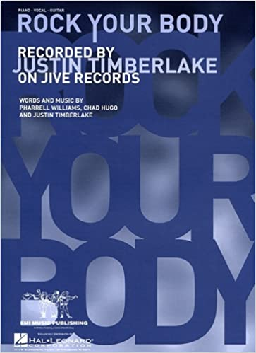 rock your body piano vocal guitar sheet music justin timerlake