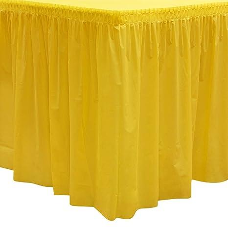 9498ed4a7 Amazon.com: Party Essentials Heavy Duty Plastic Table Skirt, 29