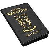 1BL Black Panther leather passport wallet holder cover case superhero marvel wakanda Unik4art