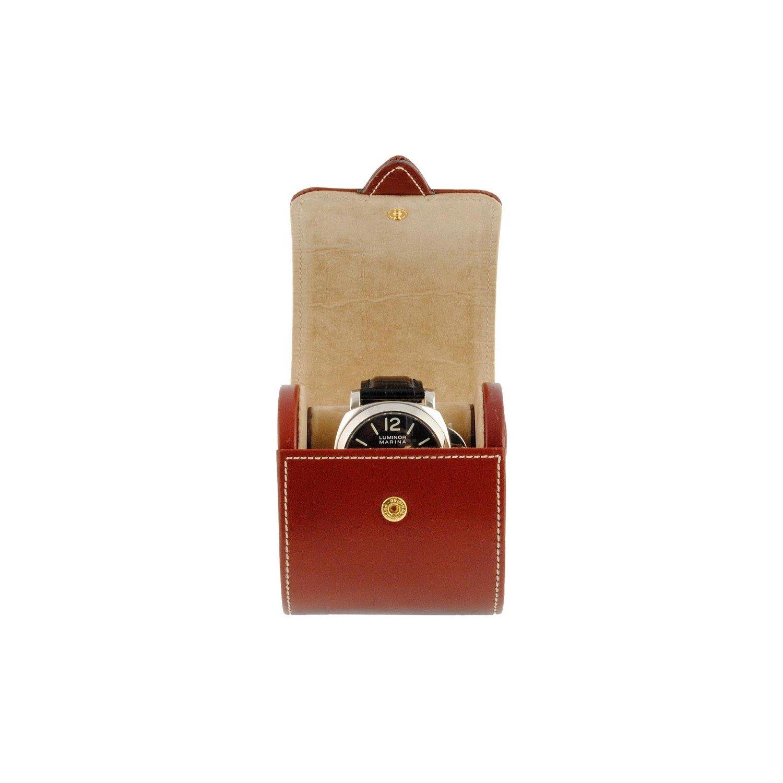 ケースの腕時計を。旅行モデル。タンレザー B00FKXQKYC