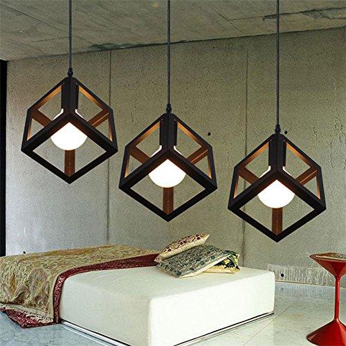 Industrial Cube Style Ceiling Light, SUN RUN Creative Retro Cage ...