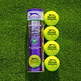 Net World Sports Slazenger Wimbledon Tennis Balls | Championship Standard | Hydroguard & Tour Core Technology | High-Visibility Tennis Balls | Buy in Bulk