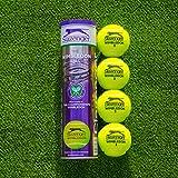 Net World Sports Slazenger Wimbledon Tennis Balls   Championship Standard   Hydroguard & Tour Core Technology   High-Visibility Tennis Balls   Buy in Bulk