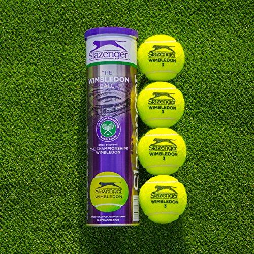 Net World Sports Slazenger Wimbledon Tennis Balls | Championship Standard | Hydroguard & Tour Core Technology | High-Visibility Tennis Balls | Buy in Bulk (18 Cans / 72 Balls)
