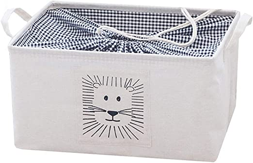 WFWUK Caja Almacenamiento Cajas De Almacenaje Decorativas Carton Caja Juguetes Cajas De Almacenamiento para Ropa De La Caja De Almacenamiento Cubos De Almacenamiento Cajas Lion,l: Amazon.es: Hogar