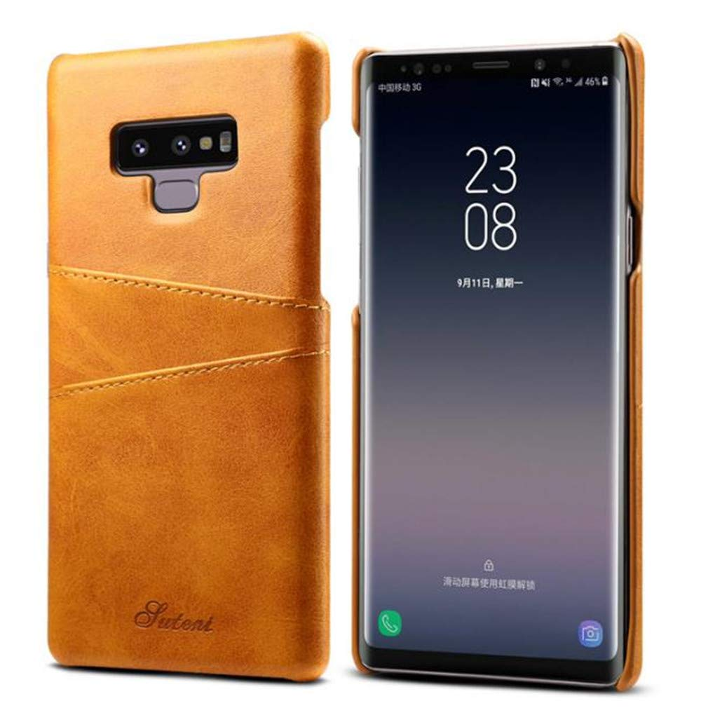 Galaxy Note 9 Credit Card Case,Lozeguyc Slim PU Leather Back Case Cover With Wallet Phone Holder for Samsung Galaxy Note 9-Yellow