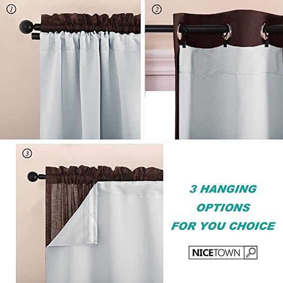 Amazon NICETOWN Blackout Curtain Liners For 95 Curtains
