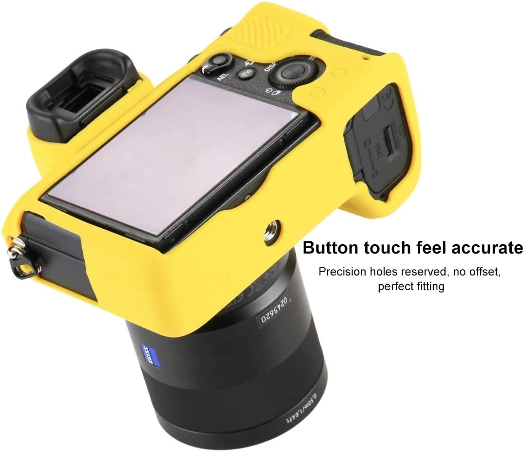7SMII JINGZ Soft Silicone Protective Case for Sony ILCE-7MII Color : Yellow 7RMII Durable