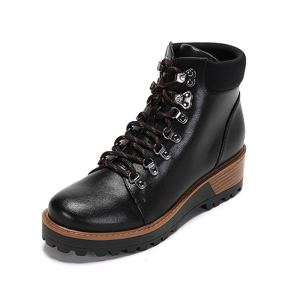 Women 's Martin boots winter comfortable personality thick bottom shoes ( Color : Black , Size : US:6UK:5EUR:37 )