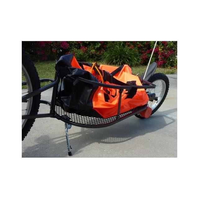 Aosom Solo Single Wheel Bicycle Cargo Bike Trailer, Orange