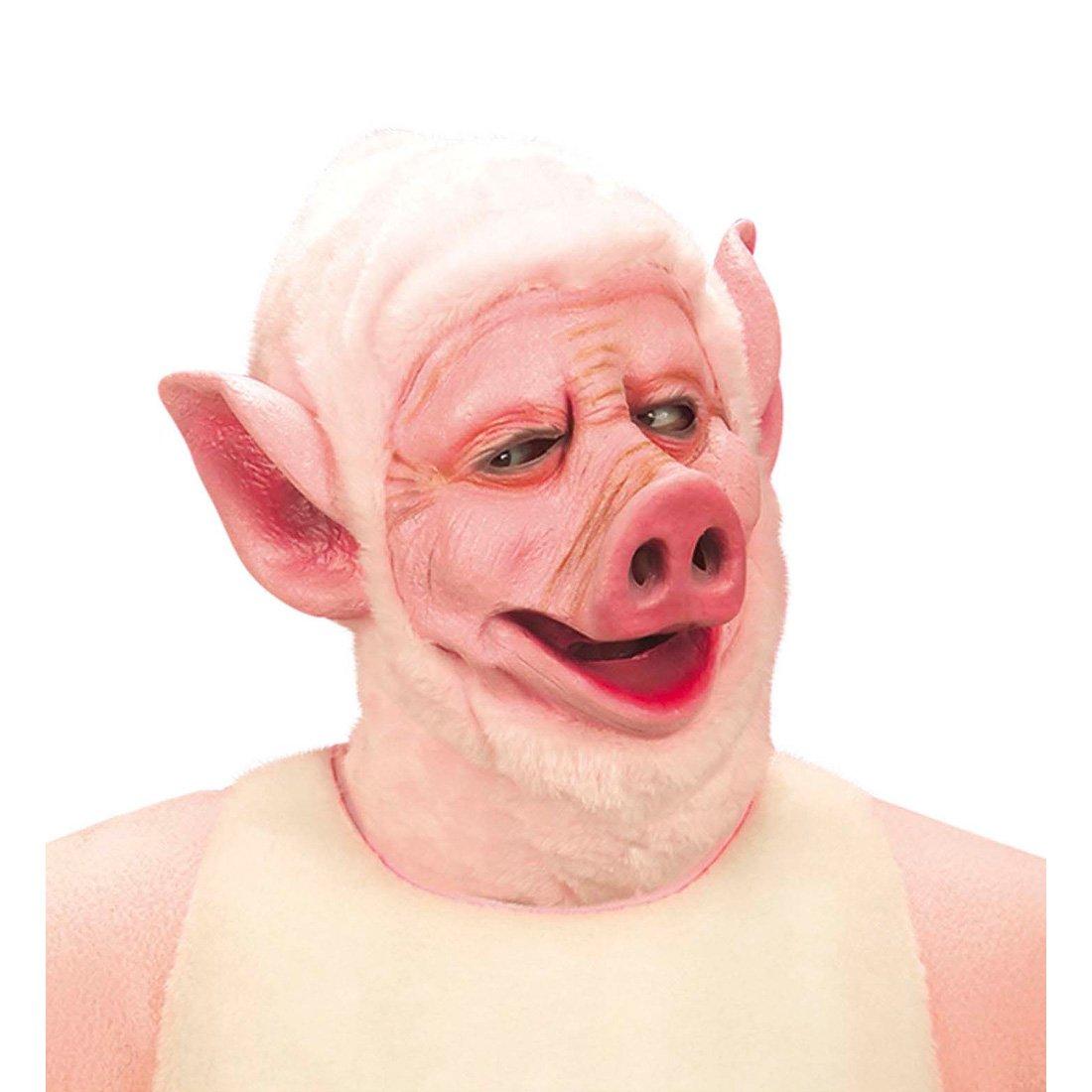 Cerdos Máscara Máscara Máscara Máscara Máscara de cerdo rosa cerdo cerdo animal granja: Amazon.es: Juguetes y juegos