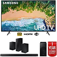 Samsung UN55NU7100 55 NU7100 Smart 4K UHD TV (2018) w/Samsung 3.1 Channel Soundbar Speaker Bundle