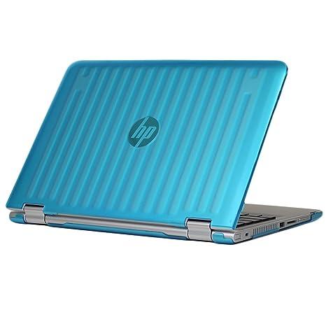 mCover – Carcasa rígida para portátiles HP Stream azul agua Pavilion X360 13-Sxxx Series