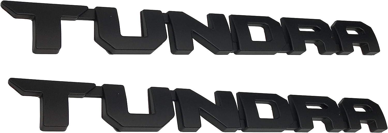 2 Pack Matte Black Tundra Door Emblem Sticker Badges For 2013-2018 SR5 1974 TRD PRO