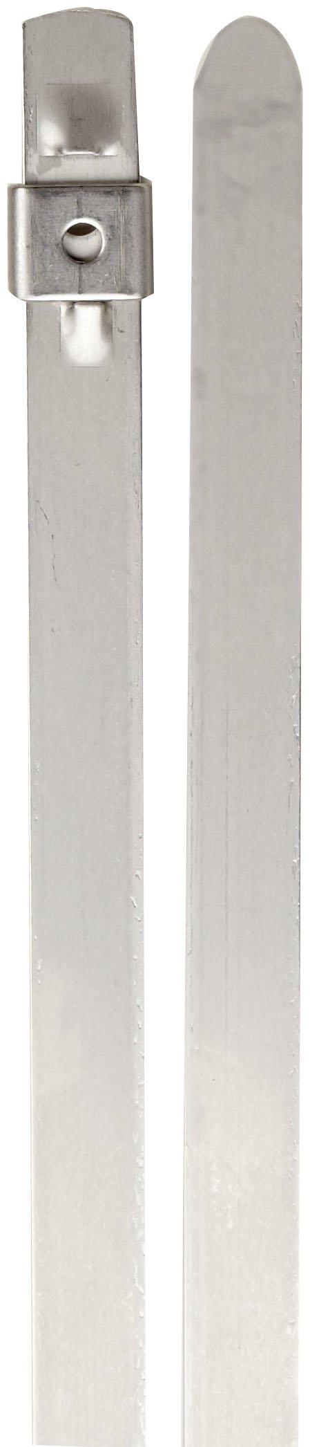 BAND-IT AS6249 Tie-Lok 304 Stainless Steel Cable Tie, 3/8'' Width, 24'' Length, 6'' Maximum Diameter, 100 per Bag