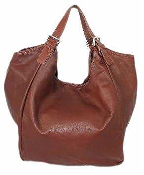 b53e99097b9a61 Leder Damen Schultertasche/XL Beutel-Tasche/große Ledertasche/XXL Shopper  Echt-