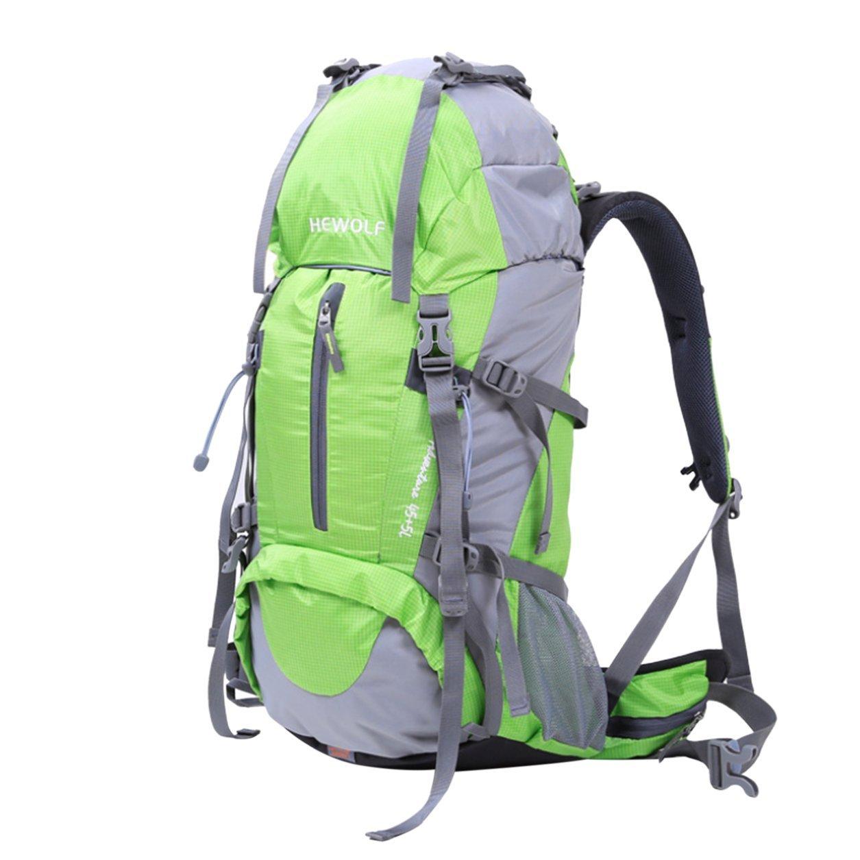 Dailyinshop Mochila de Alpinismo al Aire Libre Multifuncional de Capacidad 50L Bolsas de Hombro (Color: Verde)