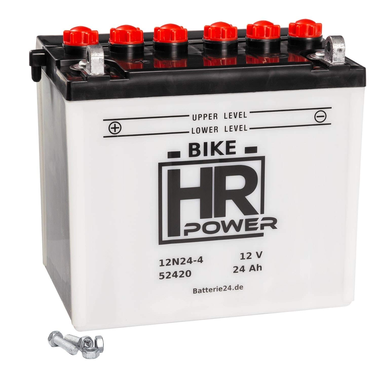 HR HiPower 52420 12N24-4 Batería para tractor cortacésped ...