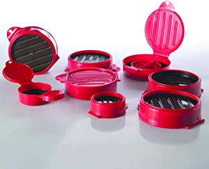 Burger Mold. Set of 8 pcs!!! Made of Plastic PP. Stuffed Burger and Slider Press Hamburger Grill BBQ Patty and Maker