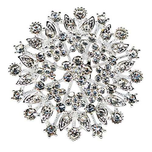 Brooch Stylish Pin (Large Brooch Pins,Crystal Rhinestone Wedding Brooches Pins Fashion Antique Button Brooch Pin,Women Ladies Girls Beautiful Breastpin Bridal Vintage Brooch Pins,Cute Stylish Brooch Pins for Jacket)