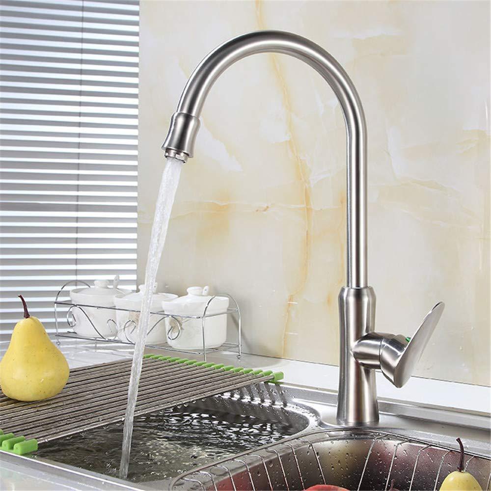 Willsego Wasserhahn Big Man Yao Bleifreier Edelstahl-Küchenarmatur aus 304 heißem und kaltem gemäße Becken Waschbecken RotationS65-UE6589321594 (Farbe   -, Größe   -)