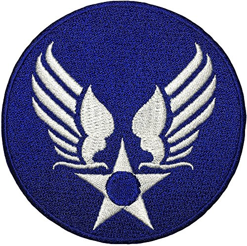 - US AIR FORCE STAR CIRCLE EAGLE WING logo Insignia Military Army United Logo size 3 inch. Jacket Vest shirt hat blanket backpack T shirt Patches Embroidered Appliques Symbol Badge Cloth Sign Costume