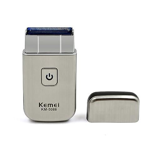 Tezam Portátil Recargable Afeitadora eléctrica para hombre con Cargador USB d952772a5819