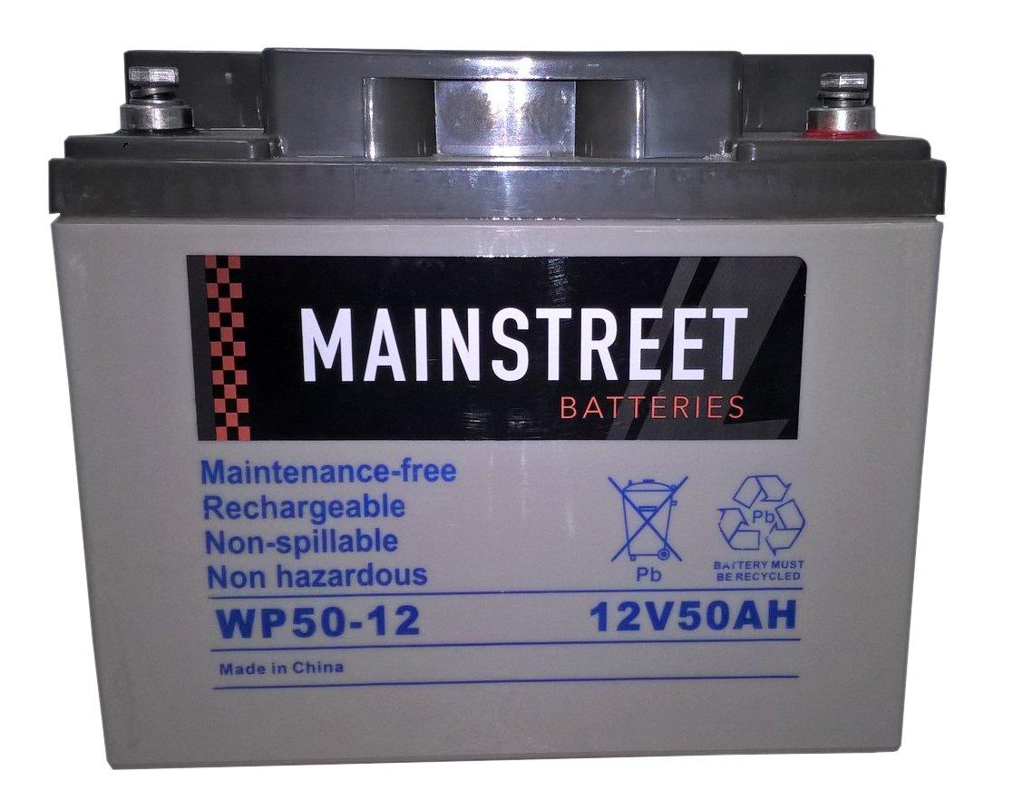 Main Street WP50-12 Sealed AGM Battery 12V 50Ah Main Street Batteries