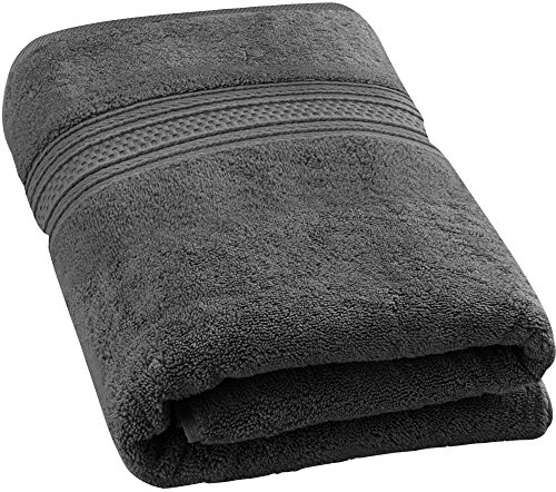 Utopia Towels 700 GSM Premium Cotton Bath Towel (Grey, 27 x 54 inch) Luxury Bath Sheet Perfect for Home, Bathrooms, Pool and Gym Ringspun Cotton