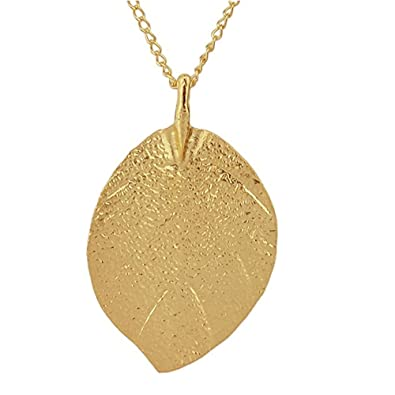 Amazon com: Jemeira Atwood Jewelry Gold Leaf Design Pendant