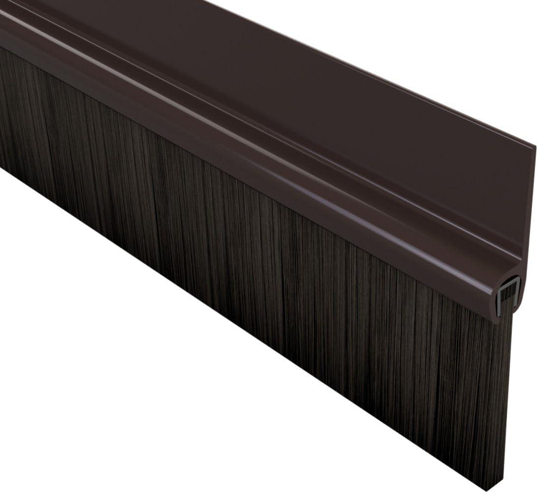 Cepillo Stormguard 02SR6641000B para sellar puertas, 1m, autoadhesivo BDS, color marrón