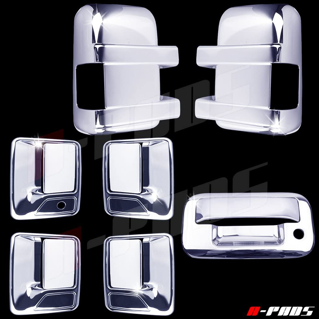 04-12 Ford F150 Chrome Door Handle Driver Key Tailgate Keyhole Cover Combo Kit