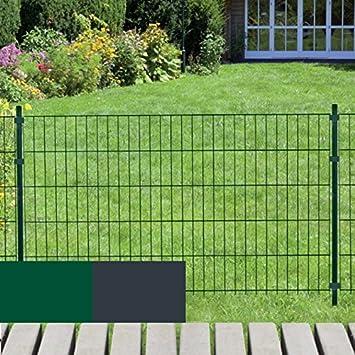 Gartenzaun System Fix 20 Meter 10 X 2m Gittermatten 1230 Mm Hoch