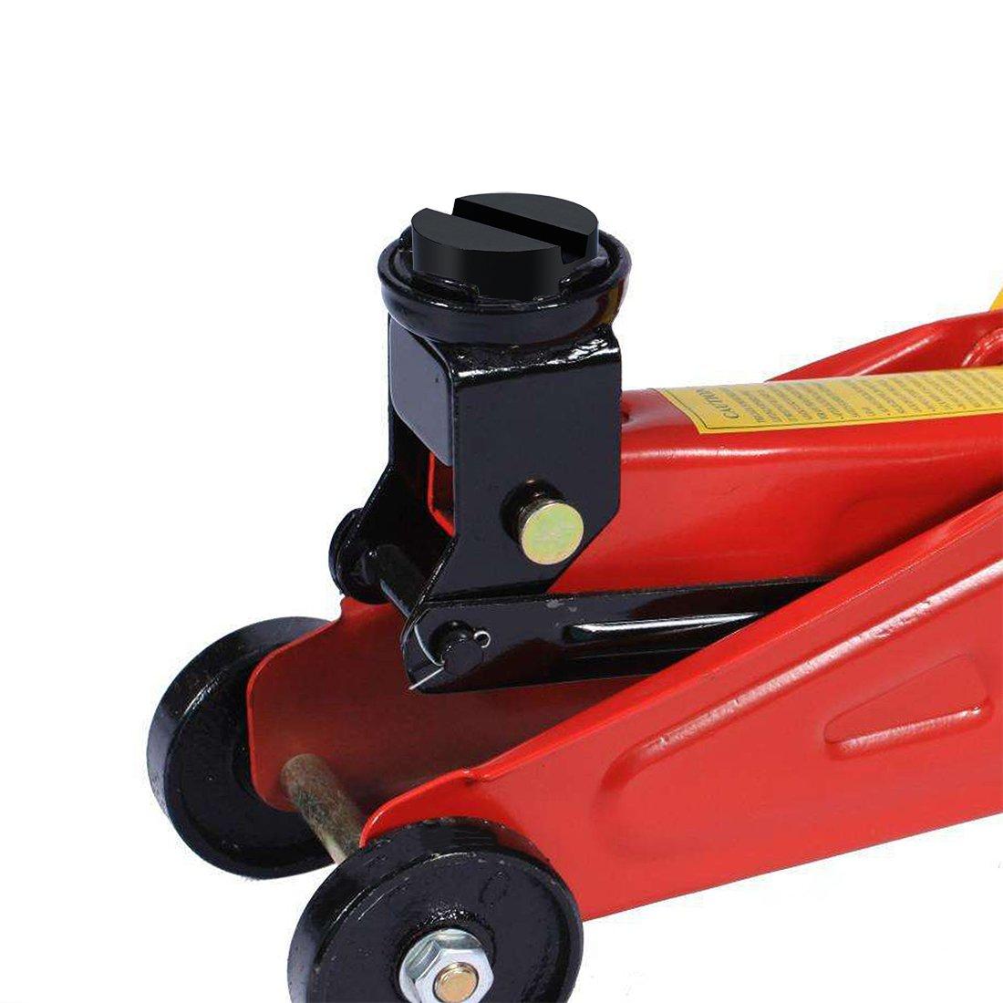 Goma Gato Hidraulico,HTBAKOI Revestimiento de Goma para Gato 65 x 34 mm Caucho de Elevador para Coche o Veh/ículo Bloque de Goma[Incluye 2 Unidades]