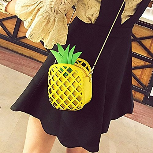 Purse black Body Bag Leather Women MILATA Shaped Pineapple Fresh3 Fruit Pu Cross Clutch xwqP4v0Fz